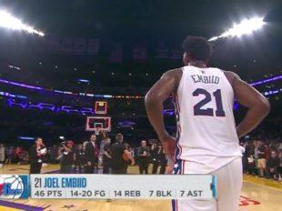 Wake-Up: Wielki mecz Joela Embiida i 46 punktów w LA