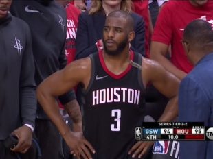 Wake-Up: Warriors nie są clutch. Rockets wygrali Game 5, ale Chris Paul doznał kontuzji