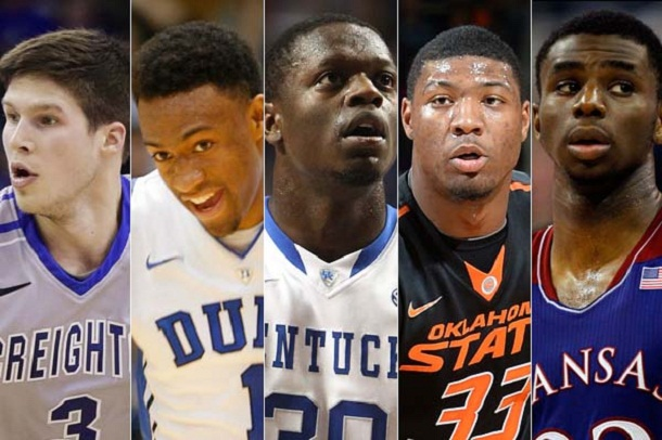 fot. AP Photo/Nati Harnik (Doug McDermott), Wes Hight/ZUMAPRESS.com (Jabari Parker), Jeff Moreland/Icon SMI (Julius Randle), Peter G. Aiken/Getty Images (Marcus Smart), Kim Klement-USA TODAY Sports (Andrew Wiggins)